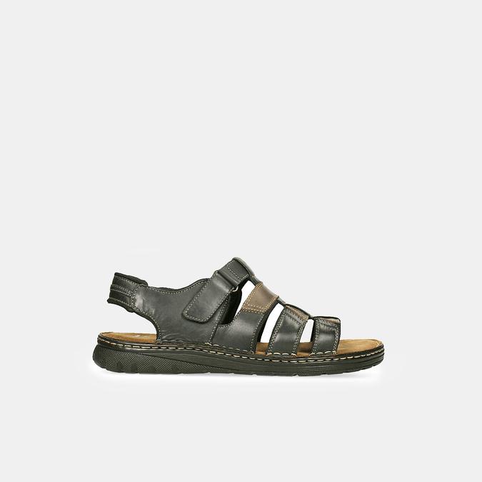 Pánske letné sandále z brúsenej kože bata, hnedá, 866-4610 - 13
