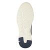 Ležérne tenisky z brúsenej kože bata, modrá, 846-9639 - 19