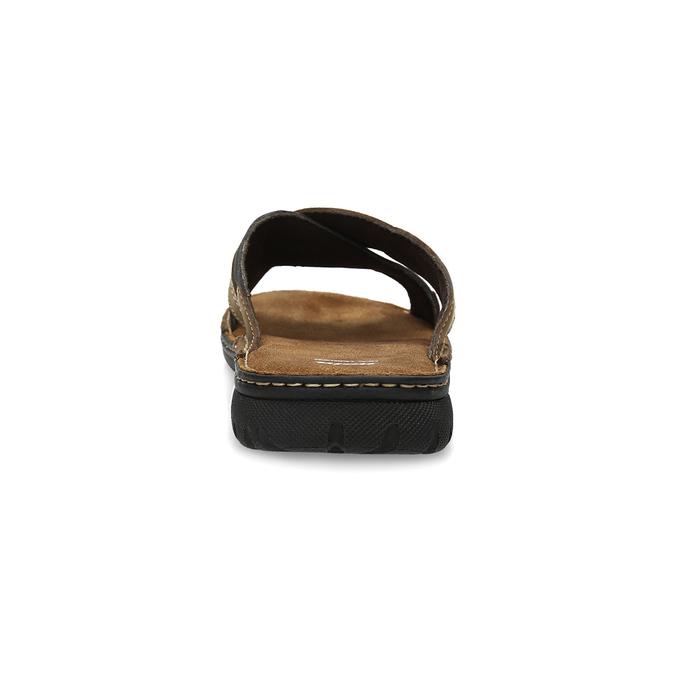 Kožené pánske letné nazuváky bata, hnedá, 866-4612 - 15
