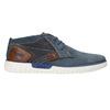 Kožená členková obuv bugatti, modrá, 846-9635 - 15