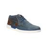 Kožená členková obuv bugatti, modrá, 846-9635 - 13