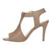 Kožené sandále na ihličkovom podpätku bata, hnedá, 766-4600 - 19