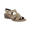 Kožené sandále na klinovom podpätku bata, hnedá, 666-4609 - 13
