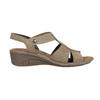 Kožené sandále na klinovom podpätku bata, hnedá, 666-4609 - 15