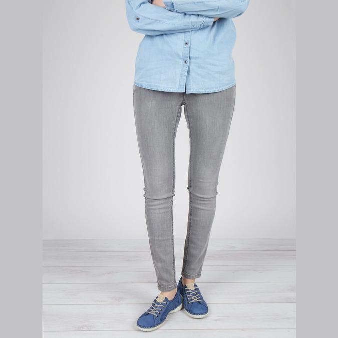 Kožené tenisky weinbrenner, modrá, 546-9238 - 18