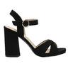 Dámske sandále na masívnom podpätku bata, čierna, 769-6602 - 15