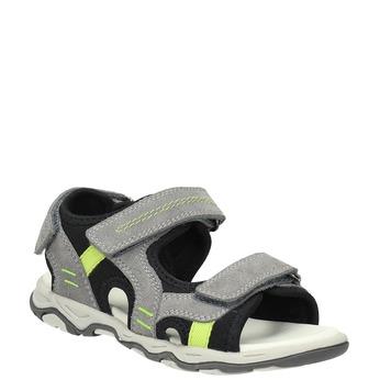 Kožené detské sandále mini-b, šedá, 463-2602 - 13