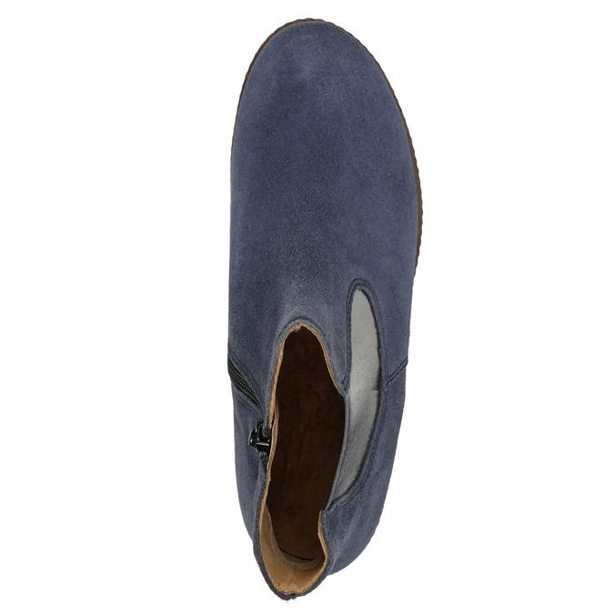 Členkové čižmy z brúsenej kože gabor, modrá, 613-9013 - 26