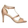 Dámske sandále na podpätku insolia, ružová, 761-5609 - 15