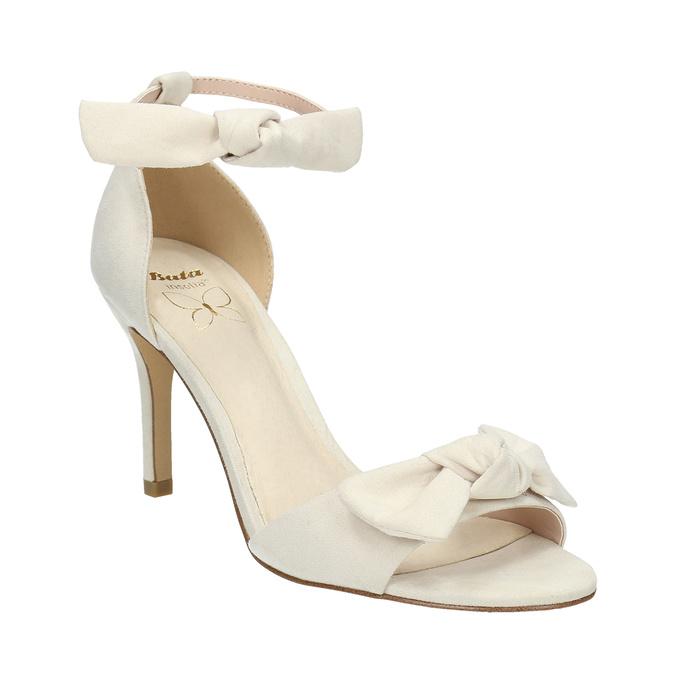 Dámske sandále s mašľou insolia, béžová, 769-1614 - 13