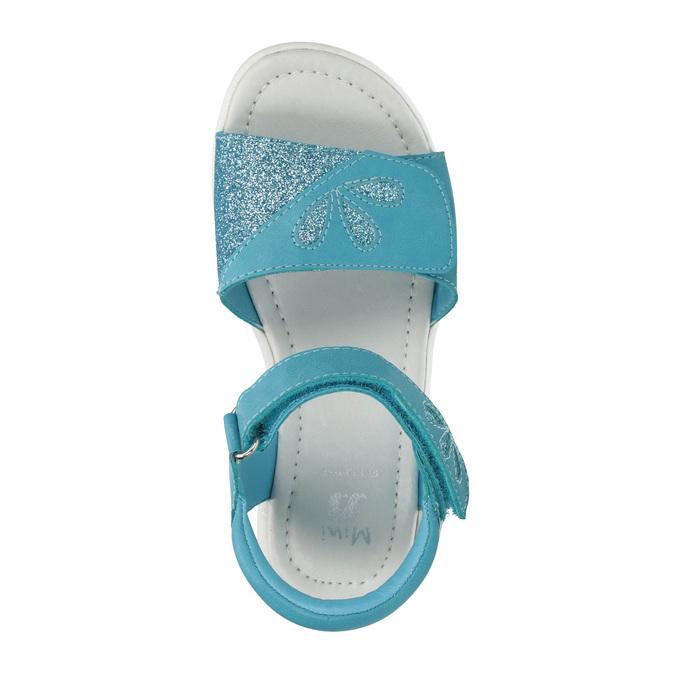 Dievčenské tyrkysové sandále mini-b, 261-9688 - 19