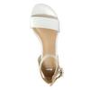 Kožené dámske sandále bata, biela, 568-1606 - 19