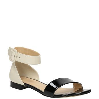 Lakované kožené sandále bata, čierna, 568-6606 - 13