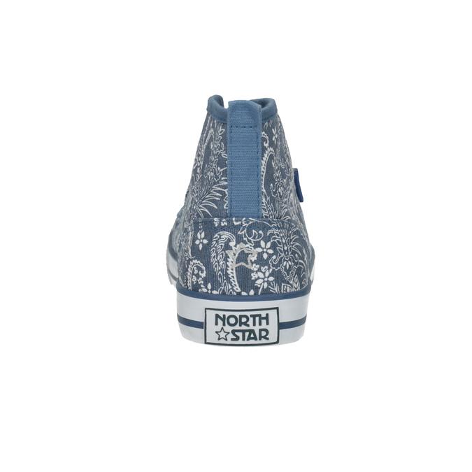 Členkové dámske tenisky so vzorom north-star, modrá, 589-9442 - 17