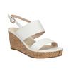 Dámske sandále na korkovej platforme insolia, biela, 761-1611 - 13