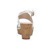 Dámske sandále na korkovej platforme insolia, biela, 761-1611 - 17