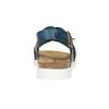 Dámske kožené sandále weinbrenner, modrá, 566-9628 - 17