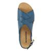 Dámske kožené sandále weinbrenner, modrá, 566-9628 - 19
