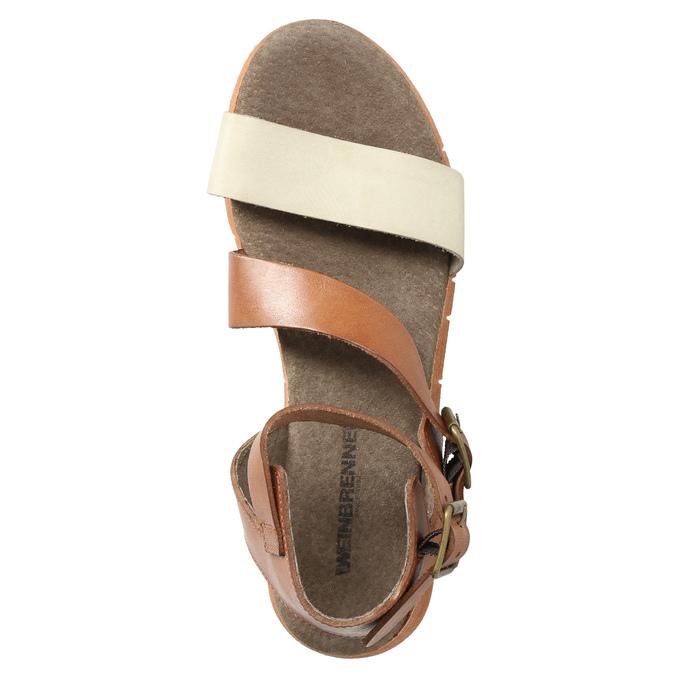 Kožené sandále na výraznej podrážke weinbrenner, hnedá, 566-4627 - 19