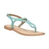 Kožené modré sandále s prepletením bata, modrá, 566-9621 - 13