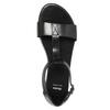 Čierne kožené sandále bata, čierna, 564-6600 - 19