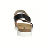 Kožené dámske sandále na suchý zips weinbrenner, ružová, 566-3630 - 17