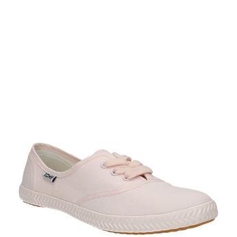 Ružové dámske tenisky tomy-takkies, ružová, 589-5180 - 13