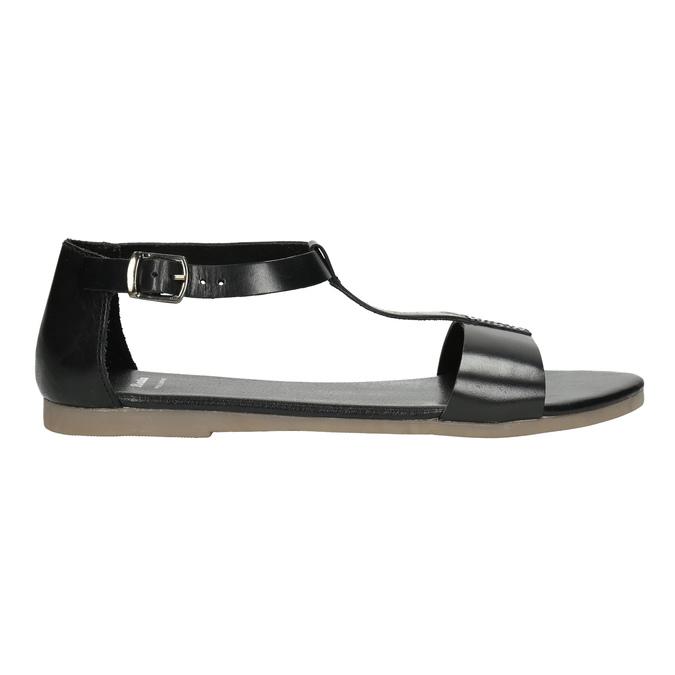 Čierne kožené sandále bata, čierna, 564-6600 - 15