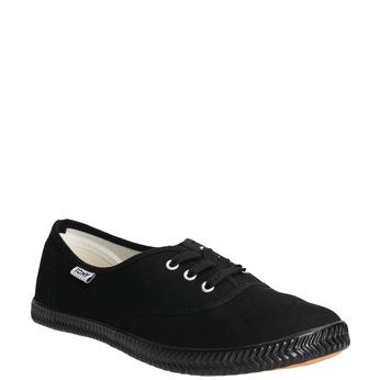 Čierne dámske tenisky tomy-takkies, čierna, 589-6180 - 13
