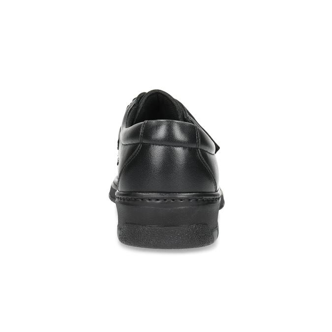 Pánske kožené mokasíny so suchým zipsom pinosos, čierna, 824-6543 - 15
