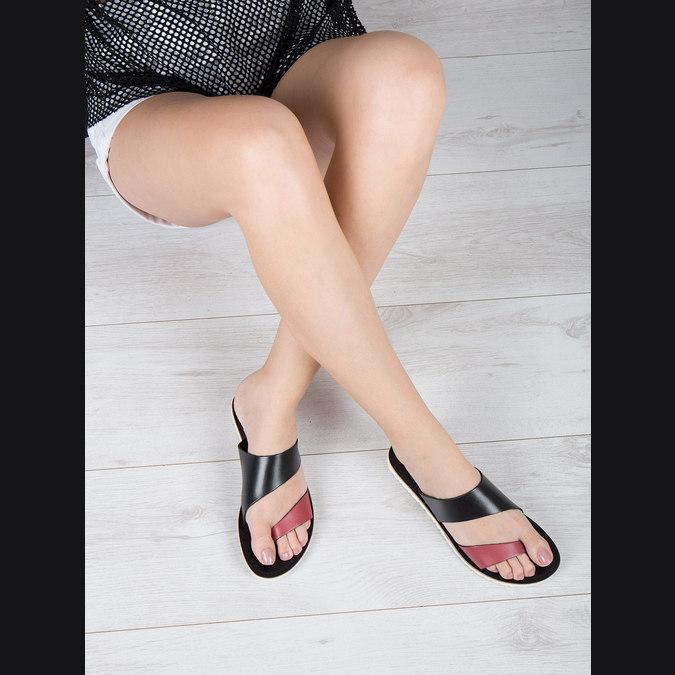 Dámske kožené nazuváky bata, čierna, 566-5614 - 18