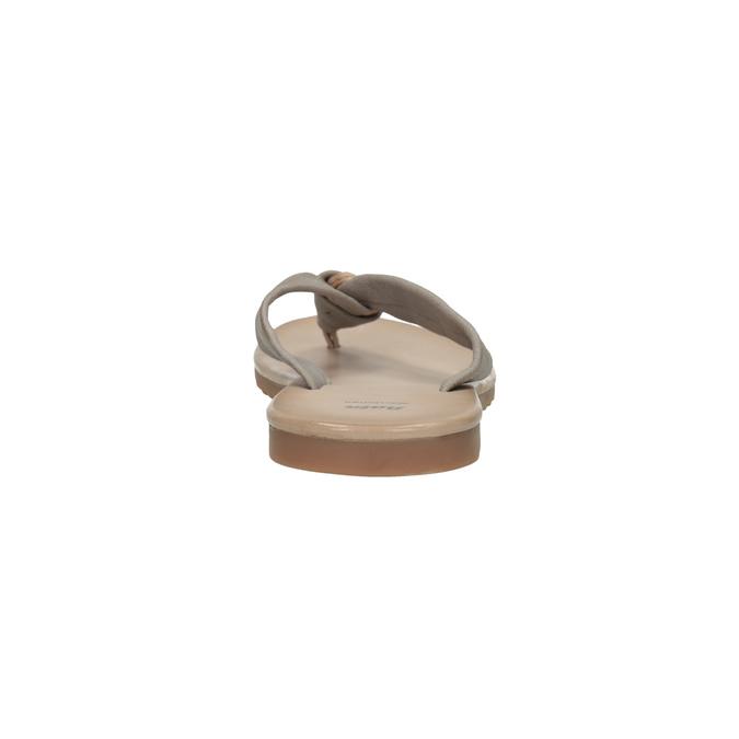 Dámske kožené žabky bata, šedá, 566-2607 - 17
