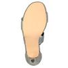 Dámske sandále na podpätku bata, šedá, 761-2614 - 26