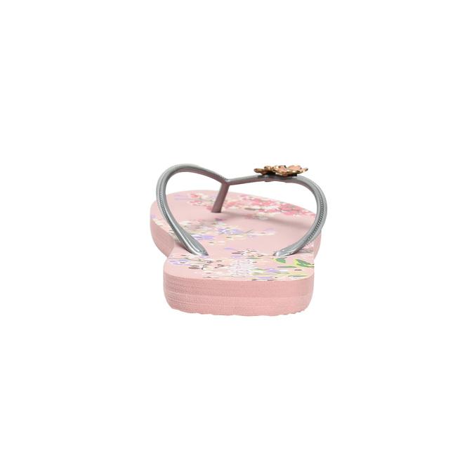 Kvetinové dámske žabky pata-pata, ružová, 572-2600 - 17