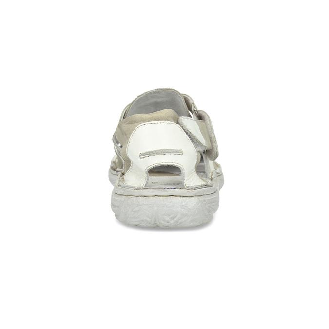 Pánske svetlé kožené sandále bata, biela, 866-1622 - 15