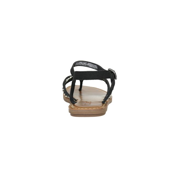 Dámske sandále medzi prsty toms, čierna, 561-6063 - 17