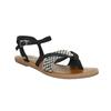 Dámske sandále medzi prsty toms, čierna, 561-6063 - 13