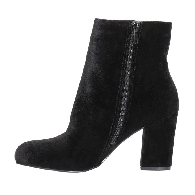 Čierne dámske čižmy na podpätku bata, čierna, 799-6616 - 26