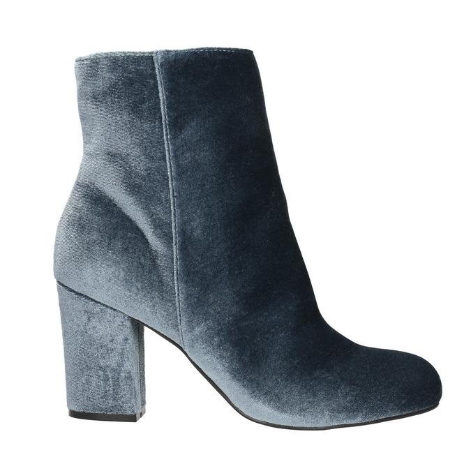 Dámske zamatové čižmy bata, šedá, 799-2616 - 15