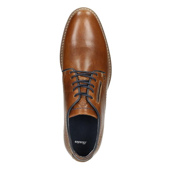 Ležérne kožené poltopánky bata, hnedá, 826-3910 - 26
