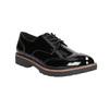 Lakované dámske poltopánky bata, čierna, 521-6606 - 13