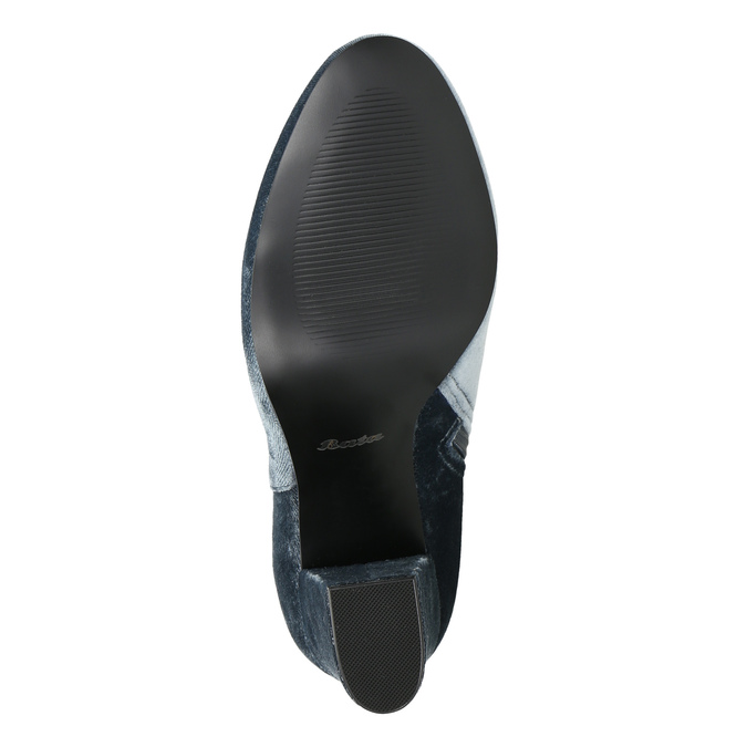 Dámske zamatové čižmy bata, šedá, 799-2616 - 26