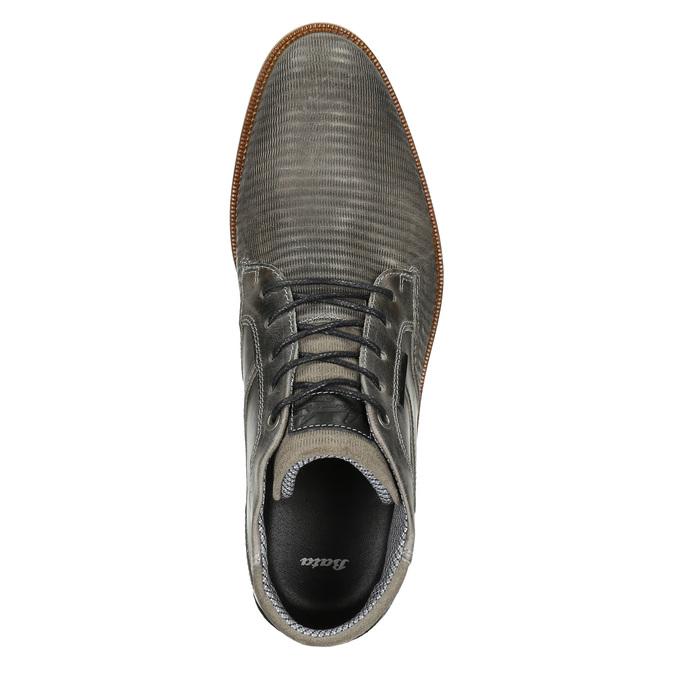 Kožená členková obuv šedá bata, šedá, 826-2912 - 26