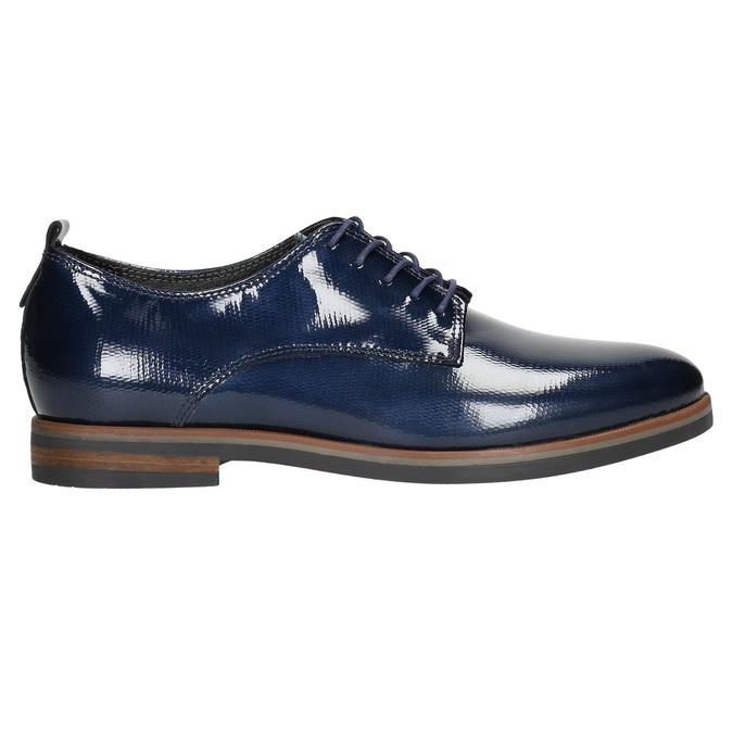 Kožené dámske poltopánky bata, modrá, 528-9600 - 15