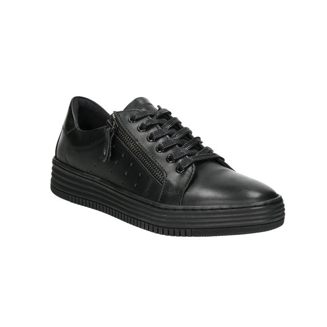 Dámske kožené tenisky bata, čierna, 526-6630 - 13