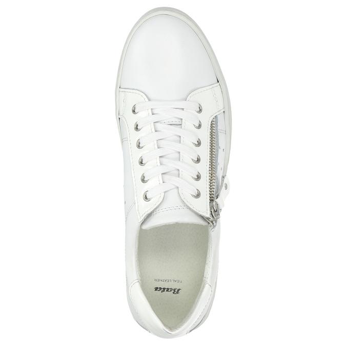 Kožené dámske tenisky so zipsom bata, biela, 526-2630 - 26