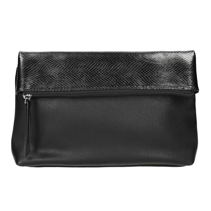 Crossbody kabelka s klopou bata, čierna, 961-6501 - 17