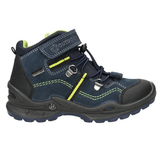 Kožená detská členková obuv mini-b, modrá, 413-9175 - 15