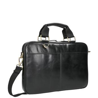 Kožená unisex taška bata, čierna, 964-6204 - 13