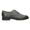 Kožené poltopánky s kovovými cvokmi bata, šedá, 526-9643 - 26